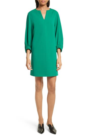 Tibi Stretch Crepe Shift Dress, Green