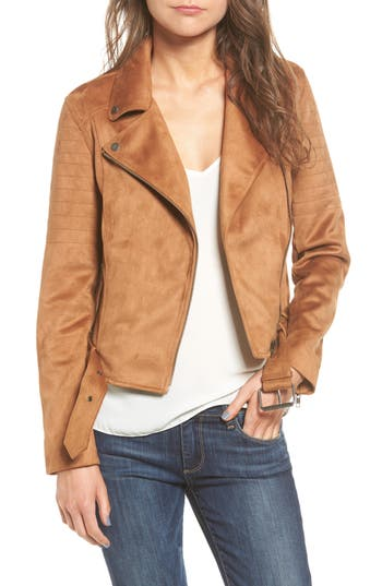 Women's Cupcakes And Cashmere Faux Suede Moto Jacket