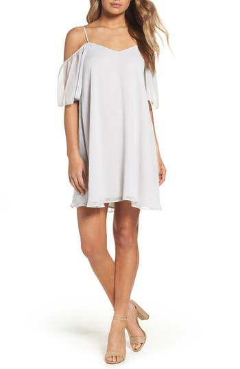 French Connection Constance Cold Shoulder Dress, Grey