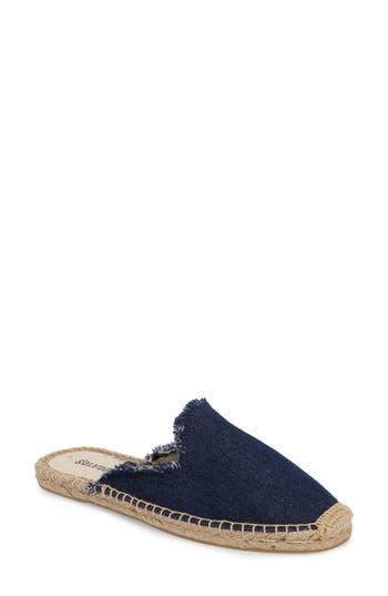 Soludos Frayed Loafer Mule- Blue