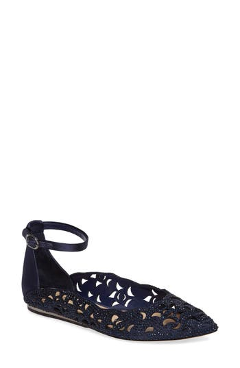 Imagine By Vince Camuto Garyn Ankle Strap Flat, Blue