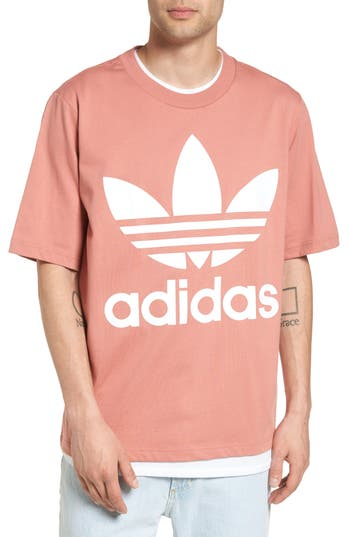 Adidas Originals Ac Boxy Oversize T-Shirt, Pink