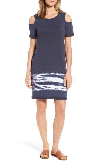Caslon Cold Shoulder Shift Dress, Blue