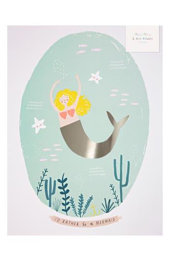 Meri Meri Mermaid 2Pack Art Prints