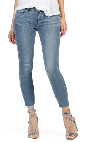 Paige Transcend - Verdugo Ankle Skinny Jeans, Blue