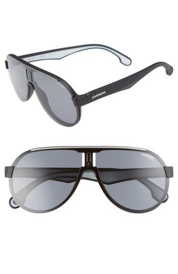 Carrera Eyewear 9m Shield Sunglasses - Matte Black/ Grey Blue