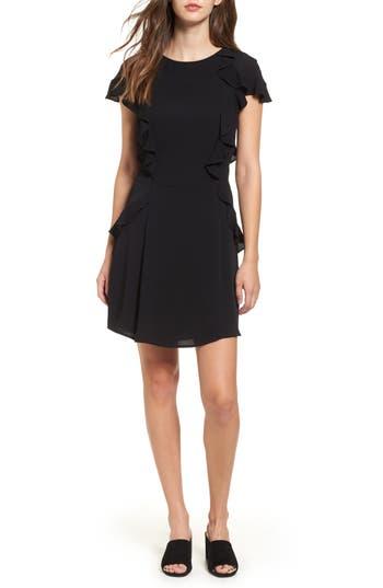 For Love & Lemons Mockingbird Ruffle Minidress, Black