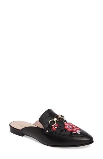 Kate Spade New York Canyon Embroidered Loafer Mule, Black