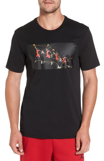 Nike Jordan Dry Flight T-Shirt, Black