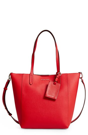 Michael Michael Kors Penny Large Saffiano Convertible Leather Tote - Red