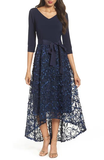 Ellen Tracy High/low Gown, Blue