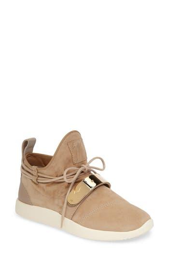 Giuseppe Zanotti Gold Band Sneaker, Beige