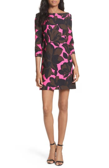 Women's Milly Floral Print Minidress, Size 6 - Pink