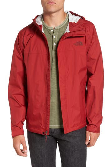 Men's The North Face Venture Ii Raincoat, Size Medium - Red