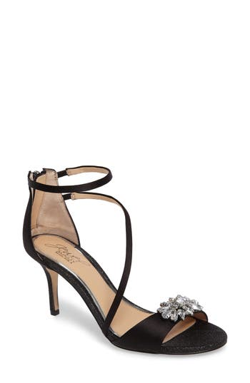 Jewel Badgley Mischka Leighton Embellished Strappy Sandal
