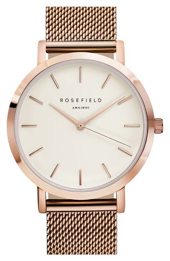 Women's Rosefield Mercer Mesh Strap Watch, 38Mm