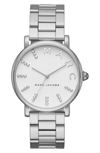Women's Marc Jacobs Classic Crystal Bracelet Watch, 36Mm