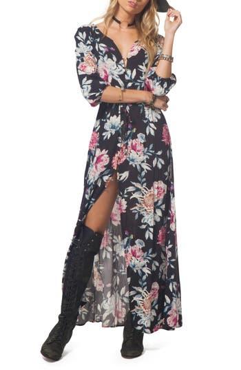 Rip Curl Floral Maxi Dress, Black