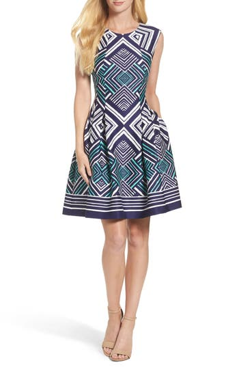 Vince Camuto Fit & Flare Dress, Blue