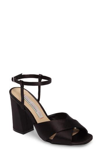 Kristin Cavallari Low Light Cross Strap Sandal, Black