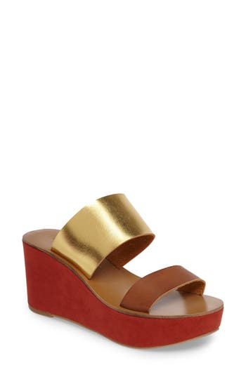 Women's Chinese Laundry Ollie Platform Wedge Sandal, Size 5.5 M - Brown