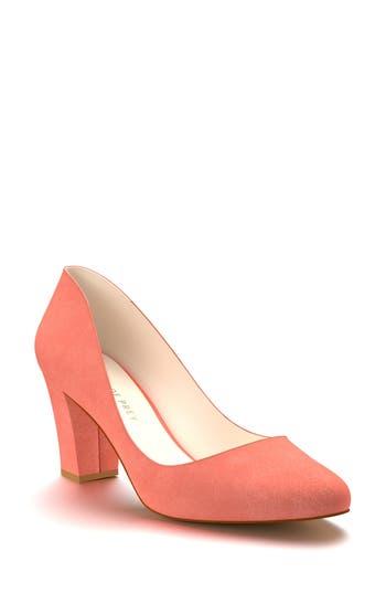 Shoes Of Prey Block Heel Pump - Orange