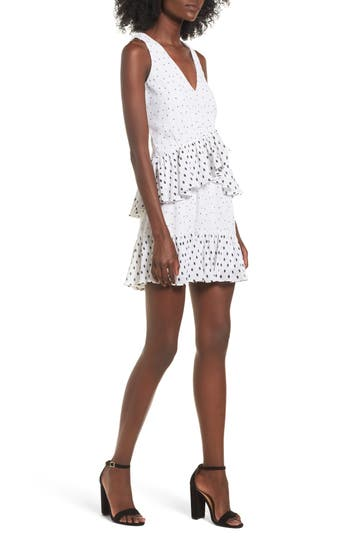 Women's Devlin Reina Ruffle A-Line Dress, Size X-Small - Ivory