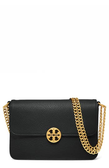 Tory Burch Chelsea Leather Shoulder Bag - Black