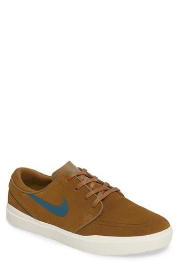 Nike Sb Stefan Janoski Hyperfeel Skateboarding Sneaker, Beige