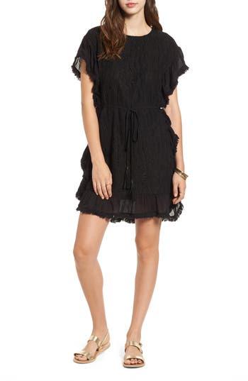 Women's Moon River Fringe Trim Lace Dress, Size X-Small - Black