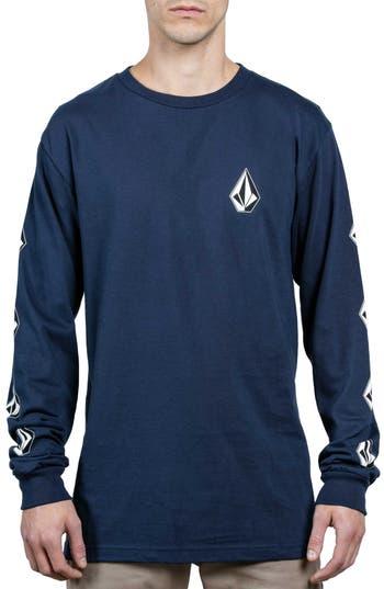 Volcom Deadly Stones Long Sleeve T-Shirt, Blue