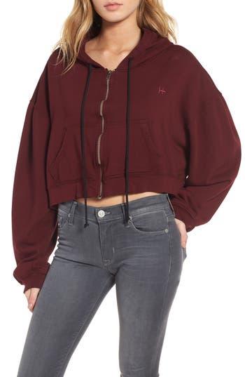 Women's Hudson Jeans Crop Zip Hoodie