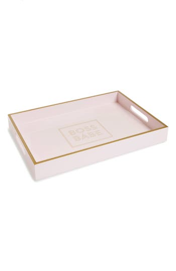 Fringe Studio Boss Babe Lacquered Wooden Tray, Size One Size - Pink