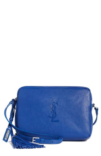 Saint Laurent Small Mono Leather Camera Bag - Blue