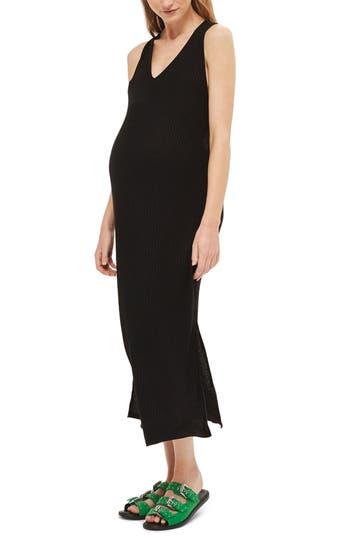 Topshop Twist Open Back Maternity Dress, Black