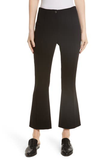 Helmut Lang Crop Flare Pants, Black