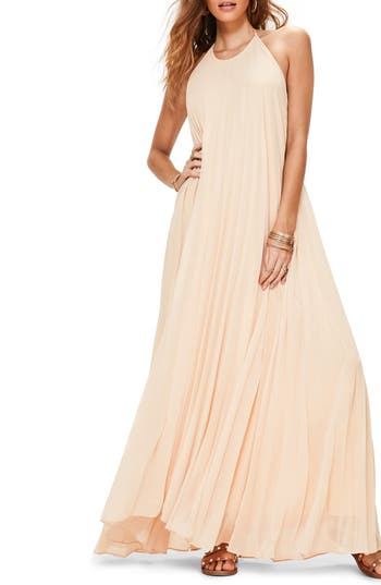 Missguided Pleated Maxi Dress, US / 8 UK - Pink