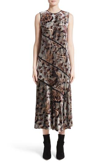 Lafayette 148 New York Melissa Opulent Garden Velvet Dress, Metallic
