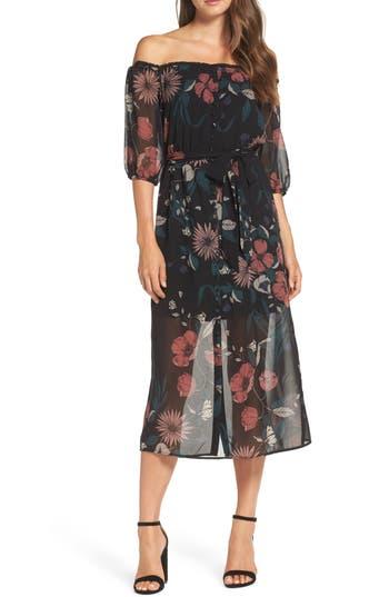 Bardot Camilla Midi Dress, Black