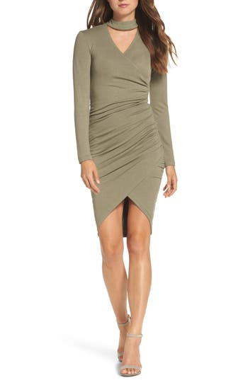 Bardot Alex Body-Con Dress, Green