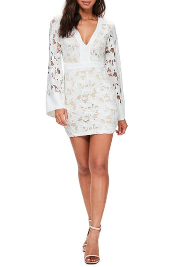Missguided Lace Body-Con Dress, US / 6 UK - White
