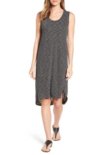 Caslon Shirttail Hem Tank Dress, Black