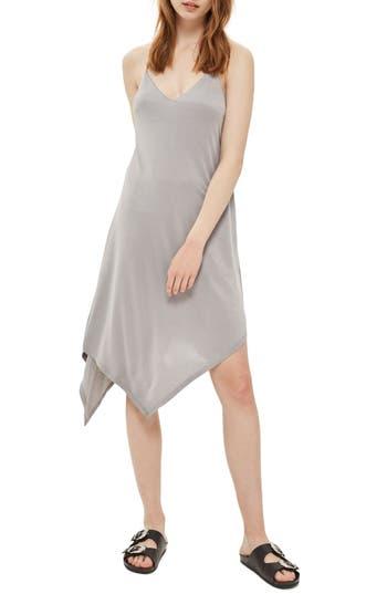 Topshop Asymmetrical Slipdress, US (fits like 0) - Grey