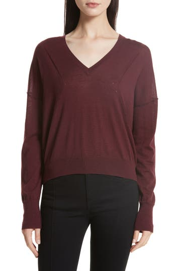 Rag & Bone/jean Bevan Merino Wool Sweater, Red