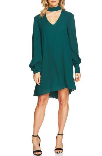 Cece Zoey Choker Shift Dress, Green