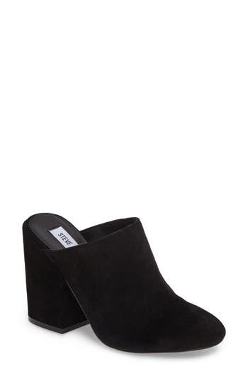 Women's Steve Madden Stella Block Heel Mule, Size 6 M - Black