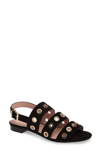 Women's Topshop Honeymoon Grommet Sandals, Size 4.5US / 35EU - Black
