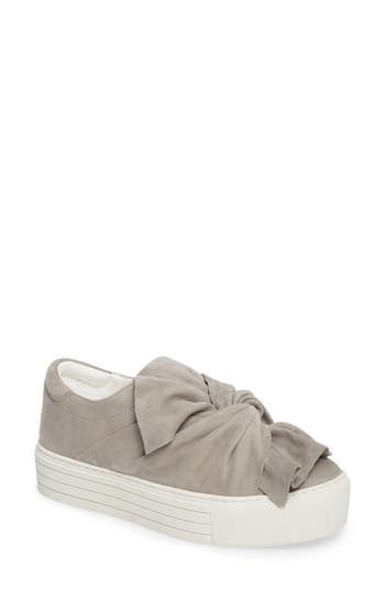 Kenneth Cole Aaron Twisted Knot Flatform Sneaker, Grey