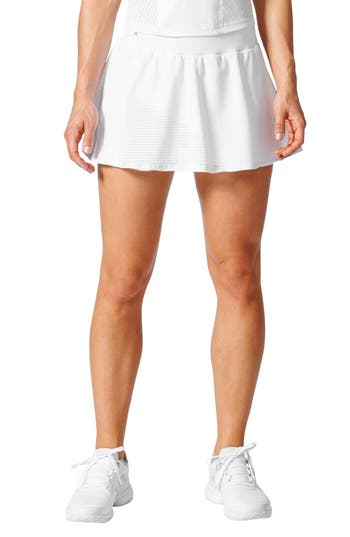 Adidas By Stella Mccartney Barricade Climacool Tennis Skirt, White