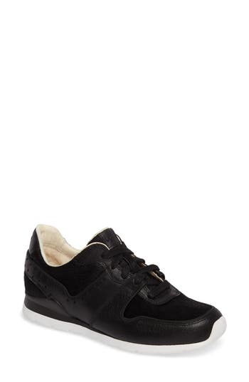 Ugg Deaven Genuine Calf Hair Sneaker, Black